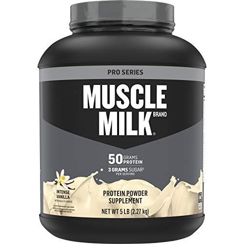 Muscle Milk Pro Series Protein Powder, 50g Protein, Intense Vanilla, 5 Pound, 28 Servings