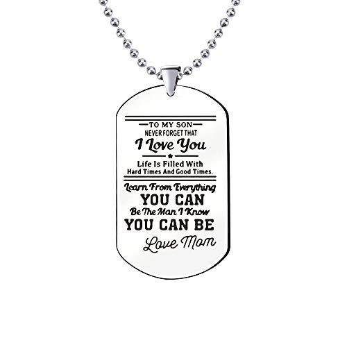 KENYG Inspirational Jewellery Halskette mit Erkennungsmarke aus Edelstahl mit Aufschrift