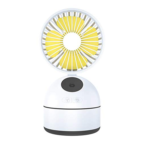 Mini Enfriador de Aire Portable Air Conditioner Misting Fan, Mini Space Cooler,USB Desktop Humidifier Fan With 3 Wind Speeds, For Office Dorm Nightstand