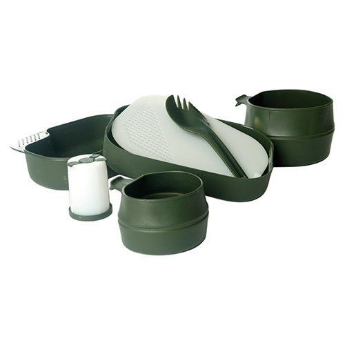 BKL1® Camping Box 7TLG Oliv Geschirr Set Essgeschirr Camping Outdoor BW Survival 812