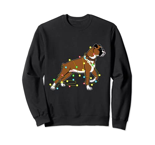 Christmas Lights Boxer Dog Lover - Regalo divertido Sudadera