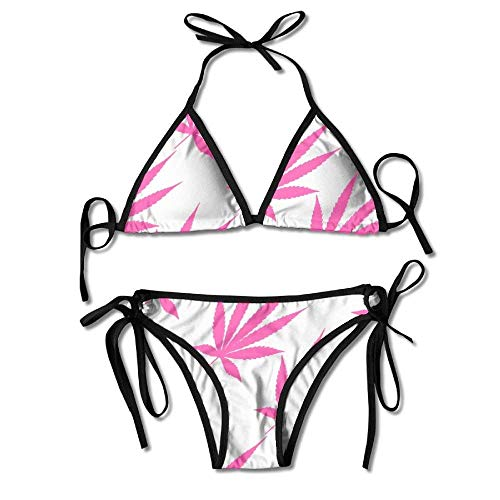 huatongxin Weed Red Swimwear Cool Skimpy Womens Sexy Modest Bikini