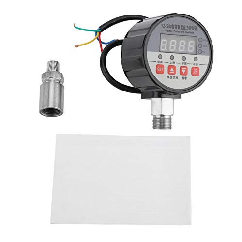 Autoprueba de encendido, interruptor electrónico de presión de agua de 220 V Interruptor de presión digital 0.5% FS Precisión para bomba de agua para sistema hidráulico