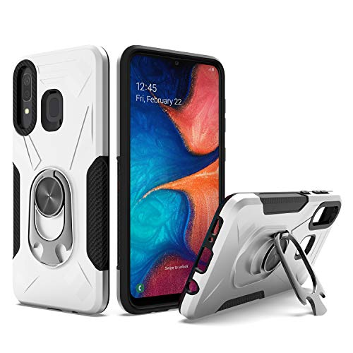 UNC Pro 2 in 1 Cell Phone Case w/Bottle Opener Kickstand for Samsung Galaxy A20 / A30 / A50, TPU Hybrid Shockproof Bumper Anti-Scratch Dual Layer Case, Silver