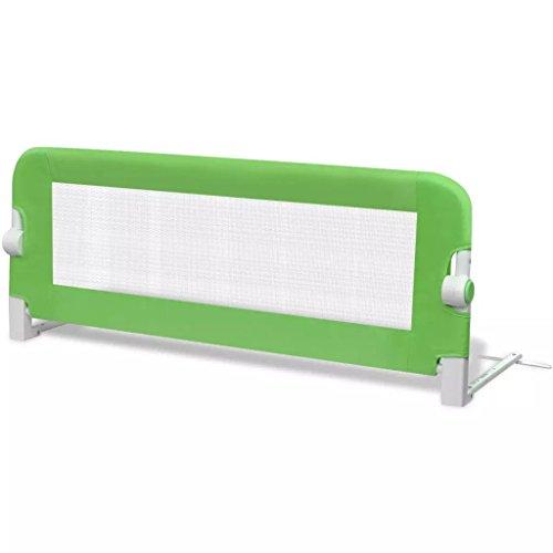 Cikonielf - Barrera de seguridad para cuna de bebé, plegable, barrera de cama resistente, instalación fácil, barrera de protección para bebé, niño, dormitorio, color verde, 102 x 42 cm