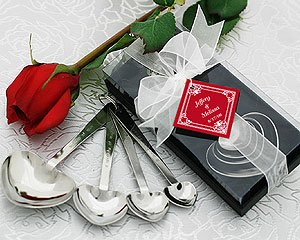 """Love Beyond Measure"" Heart-Shaped Measuring Spoons in Gift Box - Set of 50"