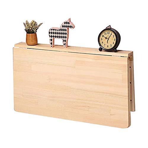 L-yg Wandklapptisch Klapptisch Schreibtisch, Klappbarer umgeklappter Tisch, Esstisch in der Computertischküche, platzsparender Kinderschreibtisch for zu Hause, Massivholztisch (Size : 80x50CM)