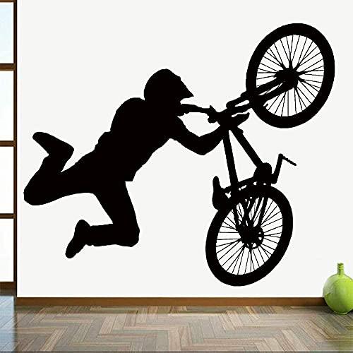 BMX Stunt Bike Sticker Wall Sticker Game Decoration Decoration Vinyl Wall Decal Store Dormitorio Dormitorio Murale Decorazione domestica 98x84 cm