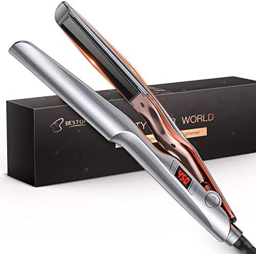 BESTOPE Hair Straightener and Curler 2 in 1 Professional Ceramic Flat Iron Hair Iron with Adjustable product image