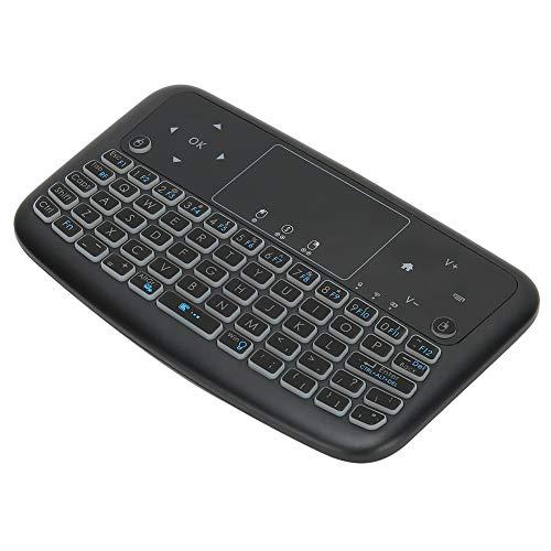 Shipenophy Teclado Recargable Air Mouse Touchpad, Teclado inalámbrico Smart Compact Mini Keyboard Teclado de Control Remoto para computadora portátil para Smart TV para PC