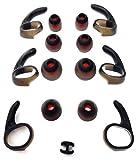 Set OEM 6 EarGels and 6 EarWings for Jabra Rox Wireless Bluetooth Headset Ear Buds Ear Gels Stabilizers Eargels Earbuds Eartips Earstabilizers Replacement