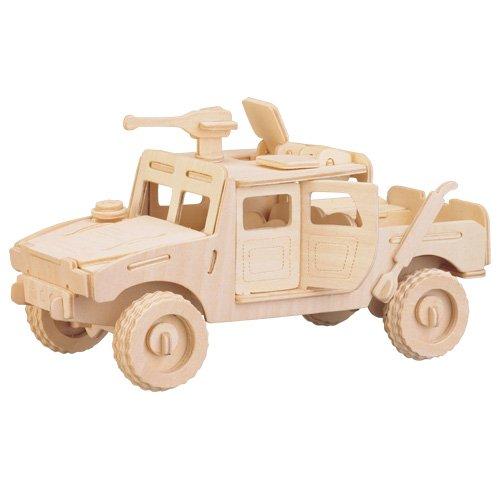 Etna Iława Militärwagen 3D Holzbausatz Panzer Wagen Fahrzeug Auto Holz Steckpuzzle Kinder Holzpuzzle P063