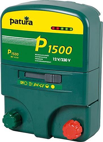 Patura Weidezaungerät P 1500-12 Volt/ 230V - 5-stufige Zaun- und Batteriekontrolle - nutzbar für viele Tiere, Kurze bis mittlere Zäune