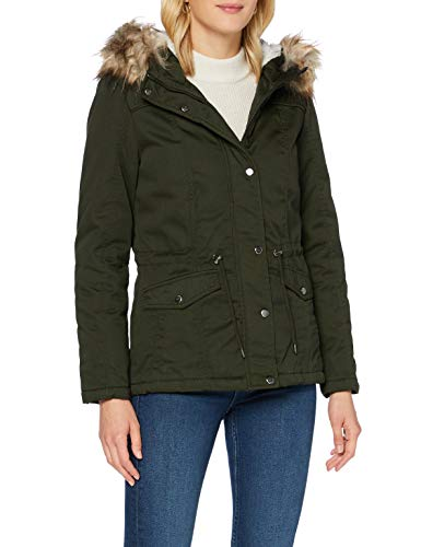 Only ONLKATIE Canvas Parka OTW Chaqueta, Rosin, S para Mujer