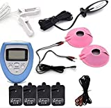 EBXH Descarga Eléctrica, Kit De Estimulación Eléctrica con Pinza para Pezones, Parche De Masaje De Senos Y Tapón...
