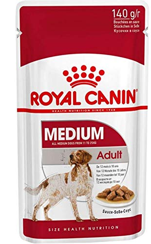Maltbys' Stores 1904 Limited 40 x 140g ROYAL CANIN MEDIUM ADULT WET POUCH DOG FOOD (CODE S/O)