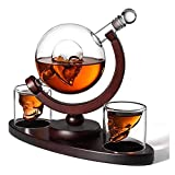 GXYtable cloth Skull Decanter and Gafas Set, con Base de Madera 2 Skull Shot Gafas y Bandejas de Cubo de Hielo Dispensador de Licor para Licor Scotch Bourbon Vodka, Familia, Oficina, Restaurante