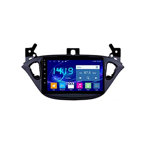 MGYQ Android Radio Stereo per Auto, con Fotocamera Posteriore Supporta Specchio Link/Controllo del Volante/BT/GPS/AUX/USB/FM/AM, per Opel Corsa 2015-2016,Quad Core,WiFi 1+16