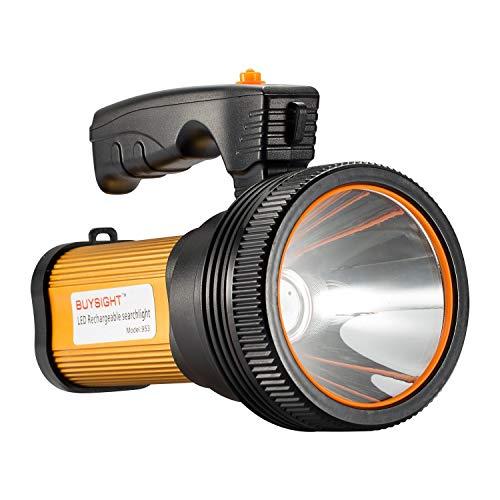 BUYSIGHT spotlight,Spot lights hand held large flashlight 6000 lumens High Lumens flashlight side light Lightweight and Super bright Lantern spotlight flashlight