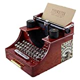 Chenhan Caja de Música Vintage Retro Máquina de Escribir Relojería Antigua Caja de Música Mini Caja Musical Cumpleaños Navidad Navidad Día de San Valentín