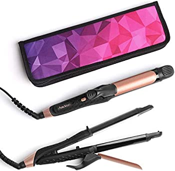 AmoVee 2 in 1 Flat Iron Curling Iron Hair Straightener