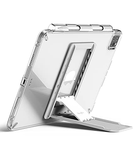 Ringke Outstanding Soporte Tablet Ajustable, Soporte Ligero Portátil Multiángulo Adhesivo Compatible con iPad Pro 11, 12.9 Pulgadas, iPad Air, iPad Mini, Samsung Tab, Otras Tablets - Light Gray