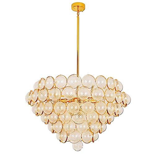 Moderne creatieve kroonluchter, grote luxe kroonluchter met glazen bol lampenkap gouden hanglamp voor slaapkamer woonkamer restaurant studiekamer bar