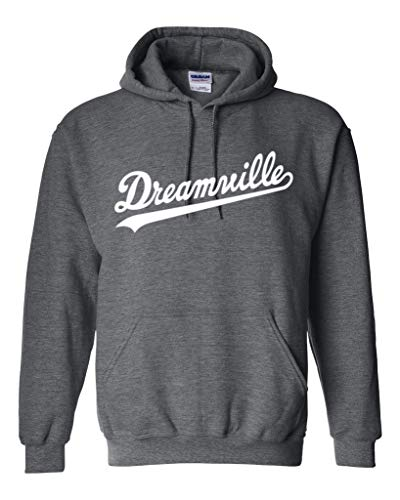 Hoodie Dreamville J Cole White Logo Pullover Fleece Sweater S Dark Heather