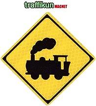 道路標識 ミニチュア マグネット ステッカー 汽車 本物のデザインデータと素材を使用した標識マグネット
