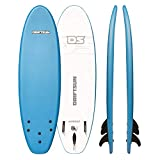 """Driftsun Nymbus Blue Foam Surfboard - 72"""" x 20"""" Surfboard with EPS Foam Core and 3 Removable Fins"""