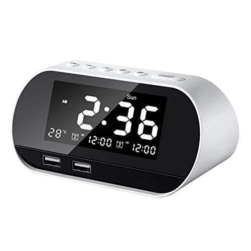 LTLJX Control de Dibujos Animados Reloj de Alarma de Despertador Despertador Ligero Luminoso del Reloj Digital con Radio FM luz de la Noche del Tacto de Relojes de Mesa LUDEQUAN