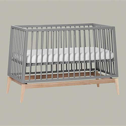 Leander Luna Babybett 120x60cm - grau/Eiche OHNE MATRATZE