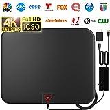 [Latest 2020] Amplified HD Digital TV Antenna Long 200 Miles Range - Support 4K 1080p Fire tv Stick...
