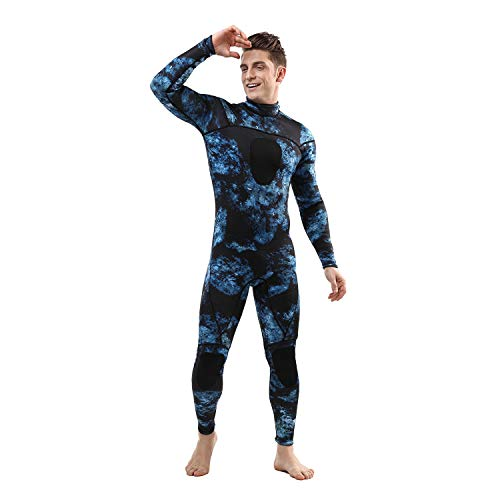 Wetsuits Mens 3MM Camo Neoprene Scuba Diving Sport Skin Spearfishing Full Suit for Swimming (3MM, L)
