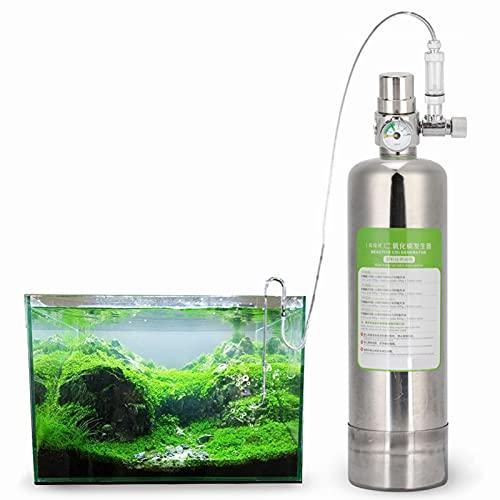 01 Kit de réacteur au dioxyde de Carbone 2L, système de générateur de CO2 Kit de réacteur au dioxyde de Carbone avec Double manomètre et diffuseur, pour Aquarium Plantes Aquarium(2 L)