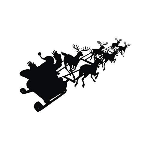 HULINJI Nightmare Before Christmas Fensteraufkleber Wandaufkleber Kinderzimmer Dekoration Kinderzimmer Wandtattoos Wohnzimmer