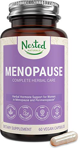 Nested Naturals Menopause Complete Herbal Care Supplement for Women – Support for Mood Swings, Vaginal Dryness & Hot Flashes - Natural Black Cohosh Extract & Dong Quai Root One A Day Menopause Relief