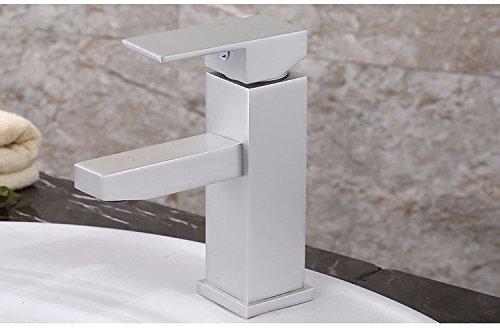 @A BATH Grifo Fregadero Four Square Single Hole Single Face Basin Faucet In Space Aluminum Wash Basin Faucet Wash Basin Faucet