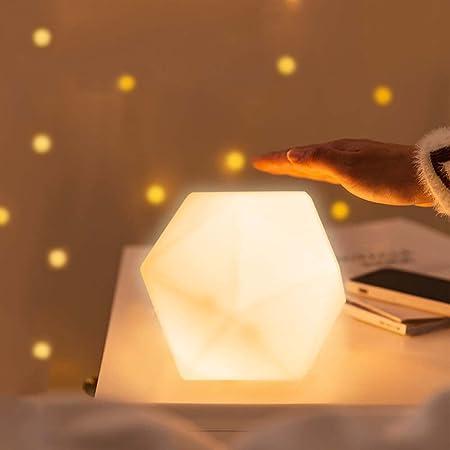 Luce Notturna Bambini, CNSUNWAY LED Luce Notte per Bambini, Lampada Notturna per 10 Colori, USB Ricaricabile Portatile Notturna Lampada per Bambini,Ragazzi