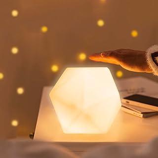 Veilleuse USB Enfant , CNSUNWAY Veilleuse Toucher de Bébé, lampe de chevet rechargeable USB, 10 colore et 3 Luminosité Rég...