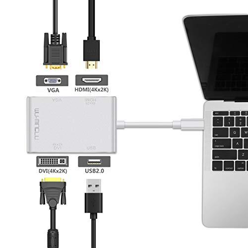 『wu-minglu USB C 映像変換アダプター USB C to HDMI/VG/DVI変換アダプター 4 in 1 4K*2K 1080pの解像度 対応 Apple MacBook、Google ChromeBook などに対応』の2枚目の画像