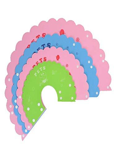 TUDUZ 1Pc Schutzkragen für Haustiere Halskrause für Hunde und Katzen, Kunststoff Elisabethanischer Kragen für Katzen, Kleine Hunde Bisssicheres Halsband(Small,Mehrfarbig)