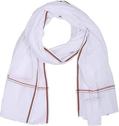 Juego de 2 toallas de baño de algodón blanco Gamchha 100% algodón,...