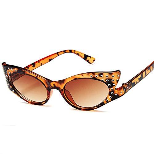 U/N Gafas de Sol de Moda para Mujer, Gafas de Sol con Diamantes de imitación, Gafas de Sol con Forma de Moda, Gafas Femeninas-4