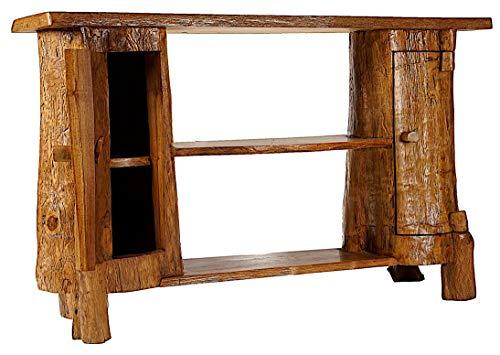 Windalf Hobbit Vintage commode met 2 deuren Romy b: 120 cm h: 76 cm Shabby Chic Lowboard dressoir multifunctionele kast uniek handwerk van wortelhout
