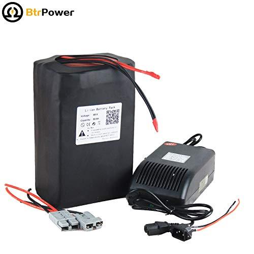 48v 15Ah / 20Ah / 30Ah / 33Ah Ebike Batterien für 500W-1600W Elektro-Roller, Lithium-LiFeo4 Akku mit 5A-Ladegerät BMS (48V 30Ah Li-ion)