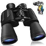 Prismaticos Profesionales 20x50 con Prisma BAK4, con Adaptador para Teléfono, para Viajes, Caza, Escalada, Deportes, Observación de Aves