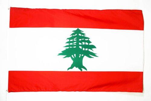 AZ FLAG Flagge LIBANON 150x90cm - LIBANESISCHE Fahne 90 x 150 cm - flaggen Top Qualität
