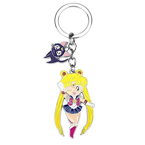 Cluis Sailor Moon Portachiavi, Anime Tsukino Usagi Chibiusa Kawaii Portachiavi