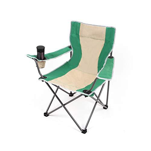 Kantoorstoel Outdoor Vouwstoel Draagbare Picknick Vissen Bergbeklimmen Camping Schets Kruk Groen met leuningen Stoel